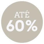Até 60% de desconto