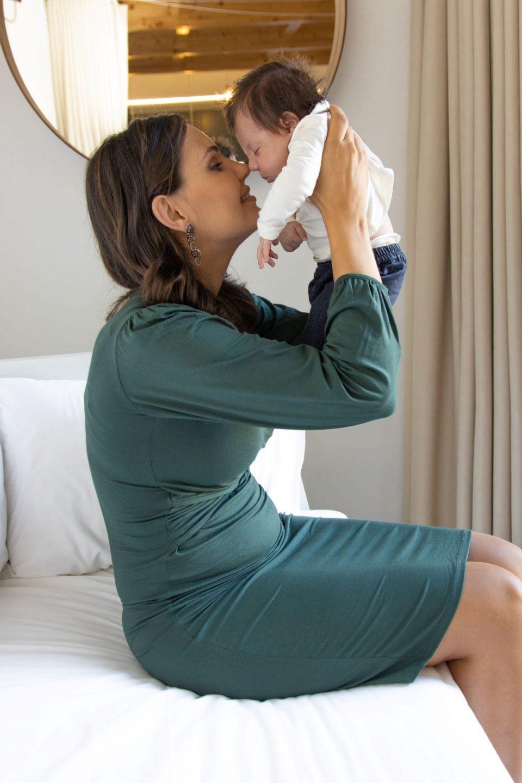 vestido para gravidez e amamentação