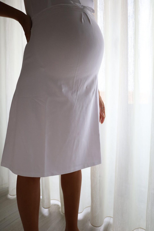 camisa de noite para gravidez e amamentação