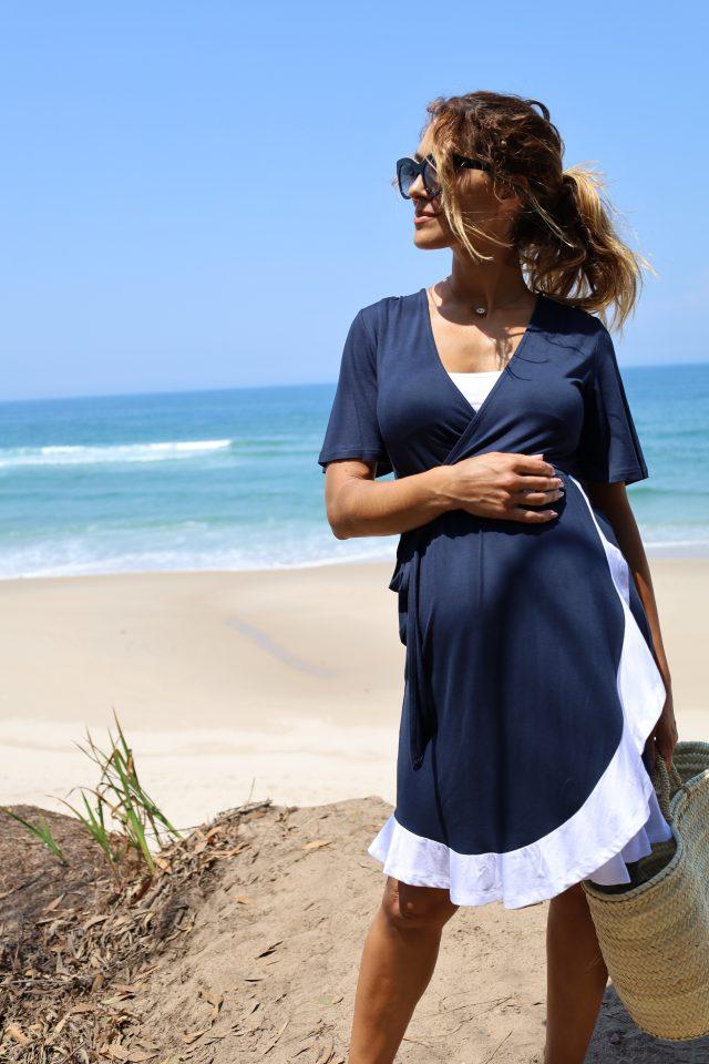 vestido de gravidez e amamentação